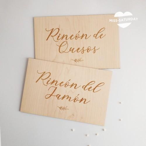 Cartel madera Estaciones Botanic