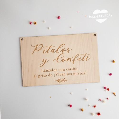 Cartel madera Confeti Botanic