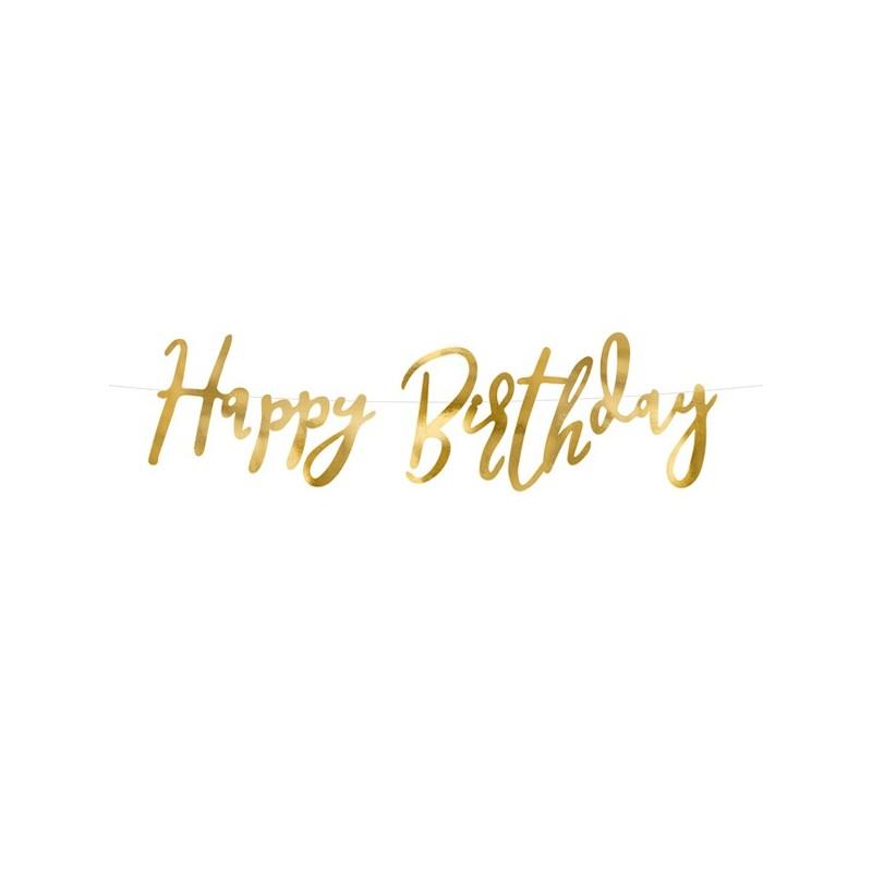 Guirnalda dorada Happy Birthday