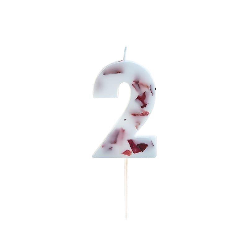 Vela cumpleaños número 2