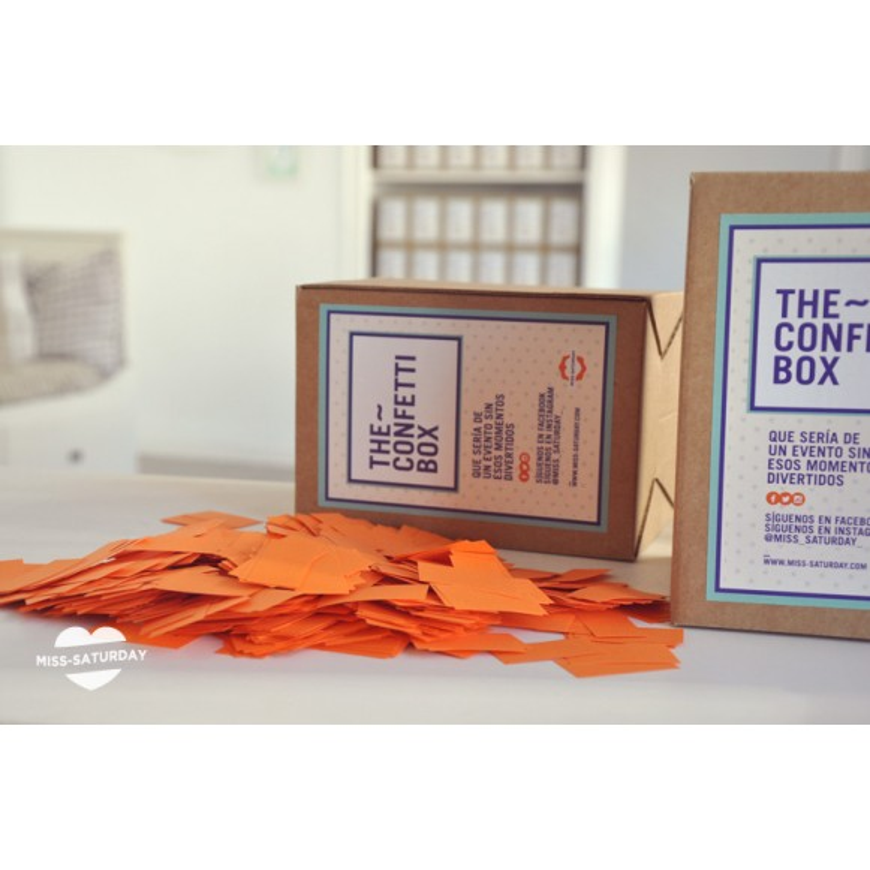 Confeti box Naranja