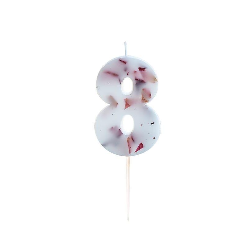 Vela para cumpleaños número 8