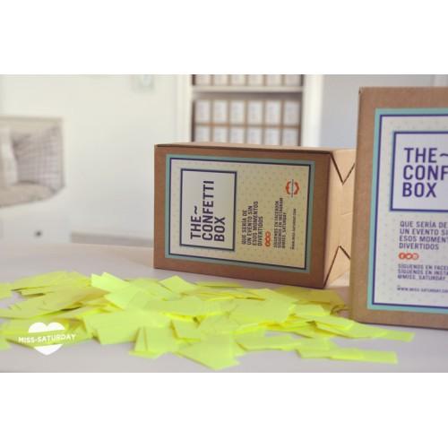 Confeti box Fluor Amarillo
