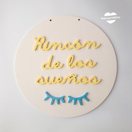 Cartel relieve Rincón de los sueños