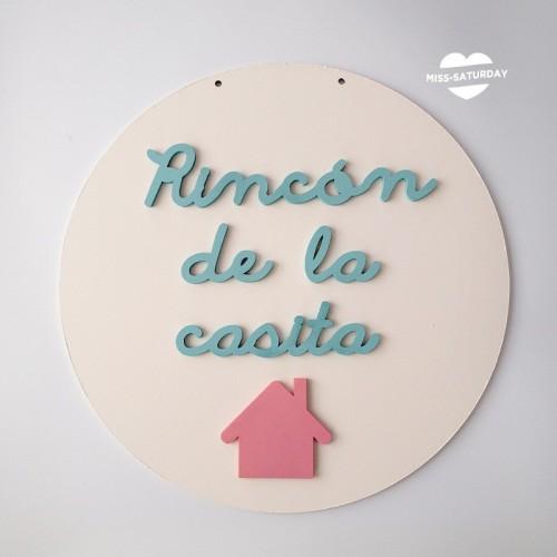 Cartel relieve Rincón de la casita
