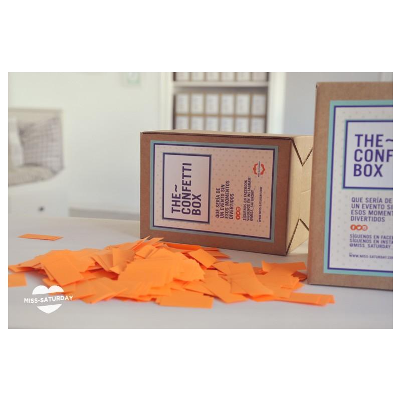 Confeti box Fluor Naranja