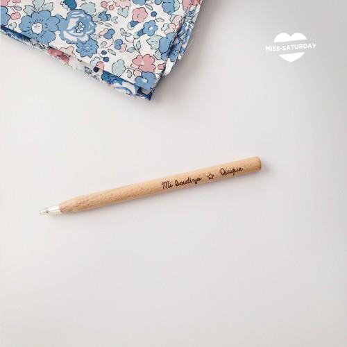 Bolígrafo personalizado Bautizo estrella