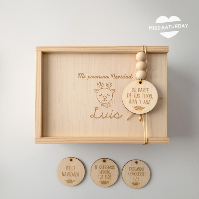 Caja de Navidad personalizada