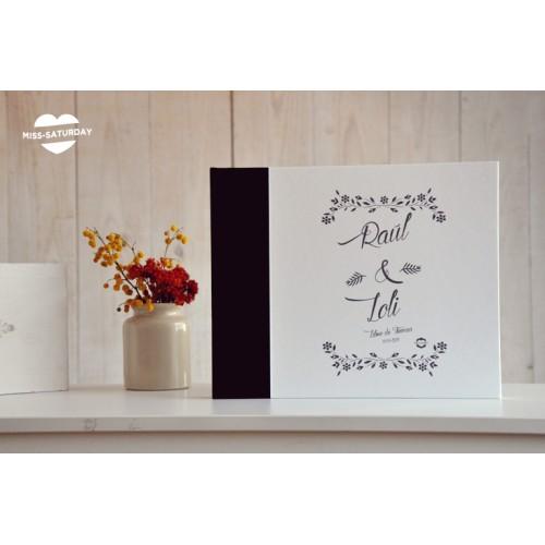 Libro personalizado flores B