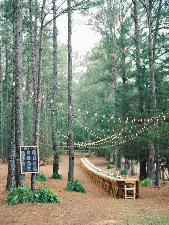 boda en bosque
