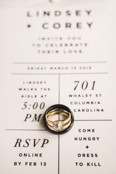 alianzas invitacion boda