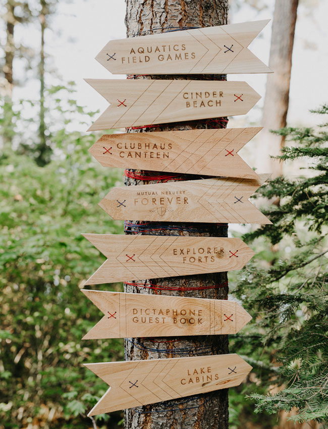 flechas madera boda