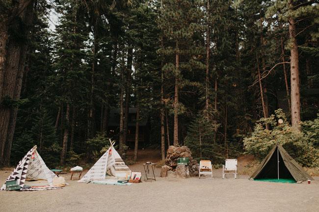 boda campamento de verano