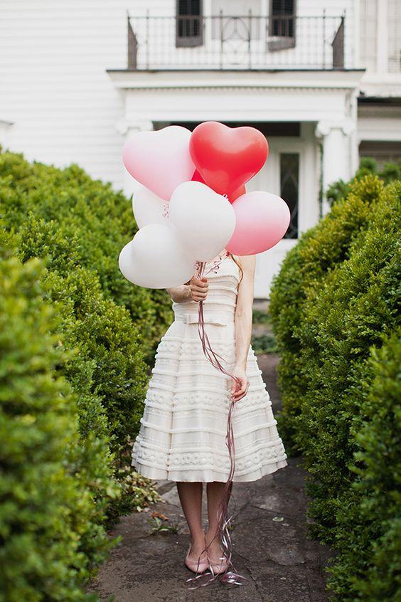 globos boda forma de corazon